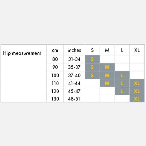 Belly Band Size Chart Yoskin