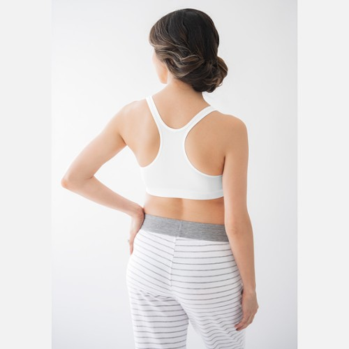 522be21d51a42 ... hooks or clips, the Sleep Bra is a Medela nursing bra that offers  seamless support as you sleep, for night-time comfort when pregnant or  breastfeeding.