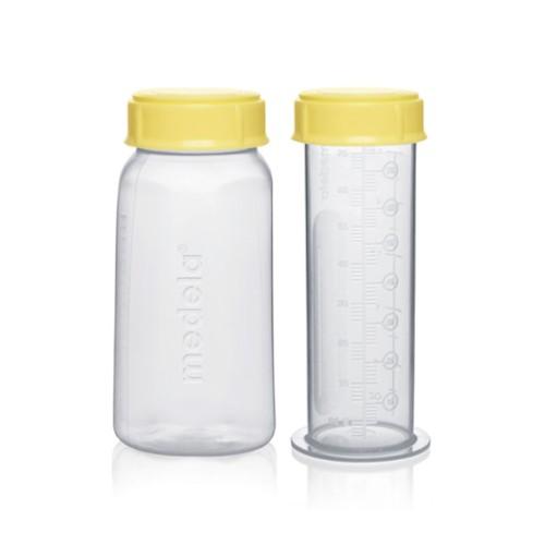 Reusable breast milk bottles for hospital use Medela